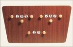 Standaard scorebord 2 spelers vlinder