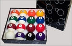 MARBLE SET BALLS 57,2 MM - POOL BILLARD BILLARDKUGELN